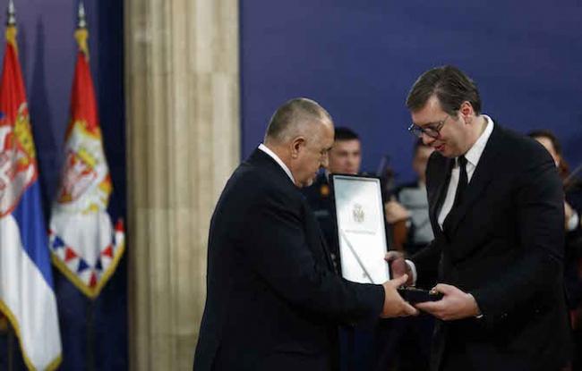 Наградиха Бойко Борисов с най-високото държавно отличие на Сърбия