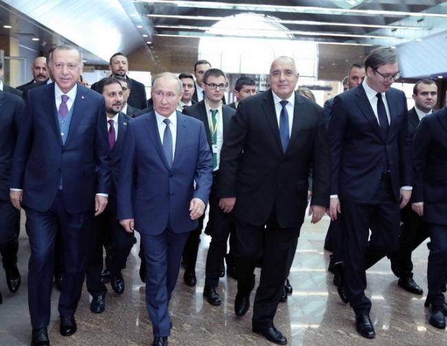 "Борисов рамо до рамо с Ердоган, Путин и Вучич. Откриха ""Турски поток"""