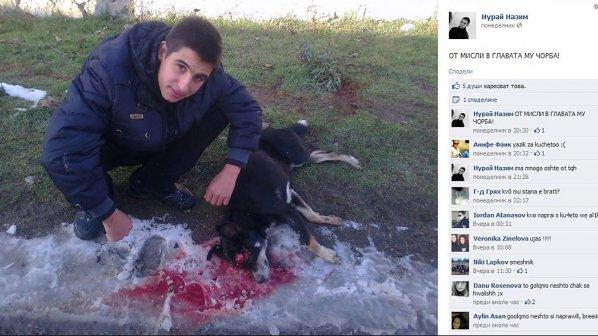 Садист се хвали във Facebook със снимка на брутално убито куче (снимка 18+)