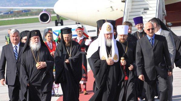 Руският патриарх стъпи на българска земя (снимки)