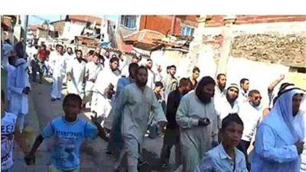 Шок! Цигани талибани крещят Аллах акбар в Пазарджик (видео)