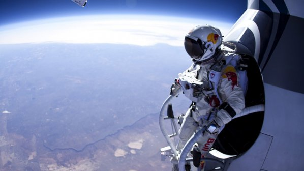 Скок от ръба на Космоса! Гледайте на живо (обновена)