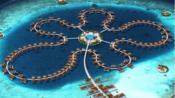 На Малдивите строят остров във формата на цвете (снимки)