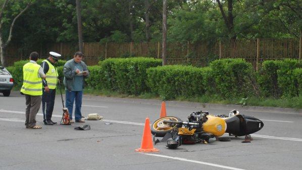 Двама младежи пострадаха при катастрофа с мотор