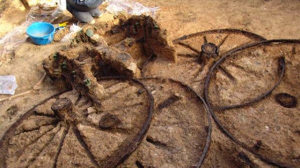 Откриха тракийска колесница край Свещари