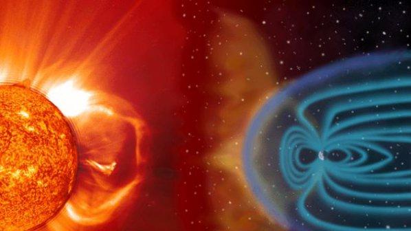 Земята вдига плазмен щит срещу слънчеви бури