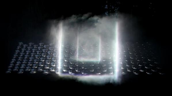 3D светлинна инсталация от бъдещето