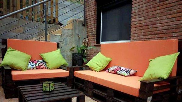14 идеи за градински мебели от палети