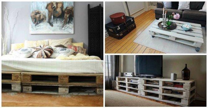 Интересни идеи за практични мебели от палети