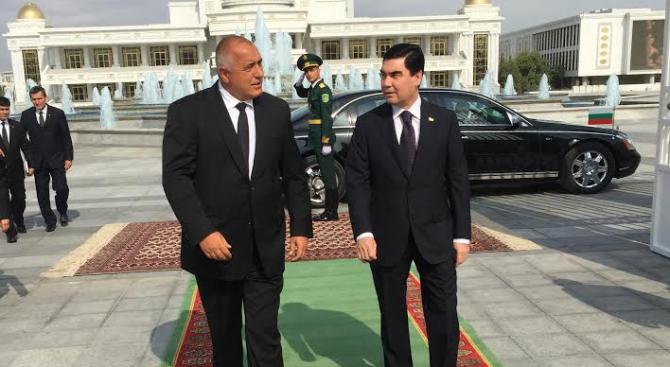 Борисов предложи на Бердимухамедов да му помогне в изграждането на инфраструктурата на Туркменистан