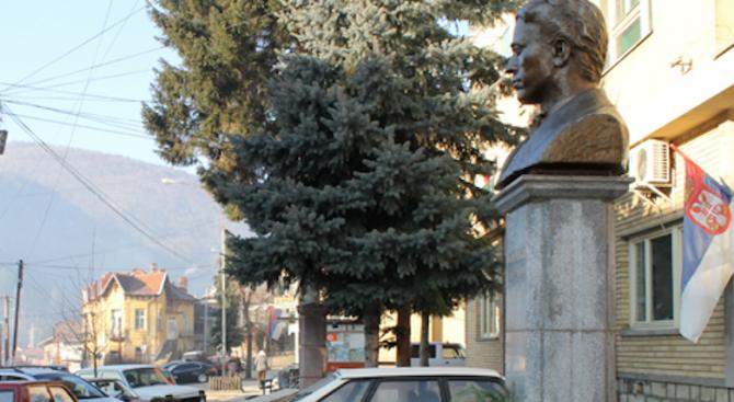 Вандали трошиха около паметника на Левски в Босилеград