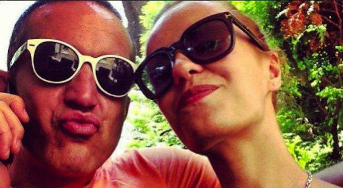 Деян и Радина със смешно селфи (снимка)