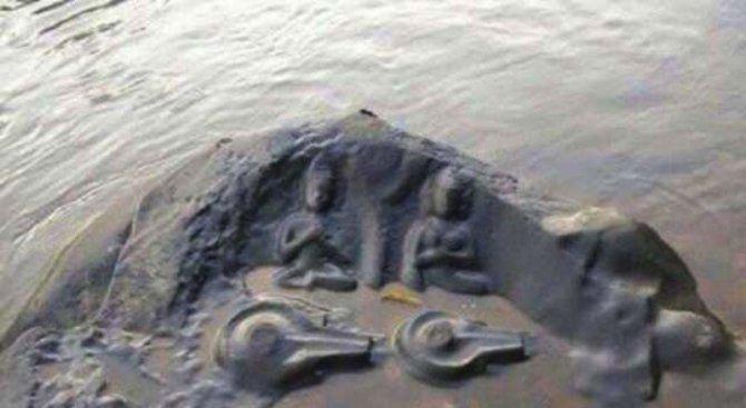 Пресушиха река в Индия, но това, което откриха на дъното изуми учените