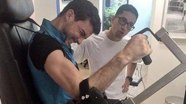 Григор помпа мускули за мача в София