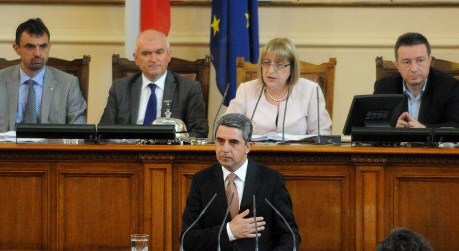 Депутатите отхвърлиха ветото на Плевнелиев върху закона за военното разузнаване