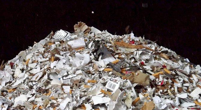 Унищожиха над 11 милиона къса контрабандни цигари и 1,5 тона нарязан тютюн