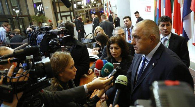 Захариева да се захваща за работа, ограничаваме миграционния поток към ЕС, обяви Борисов от Брюксел