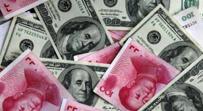 Курсът на юана с най-ниското ниво от май 2011