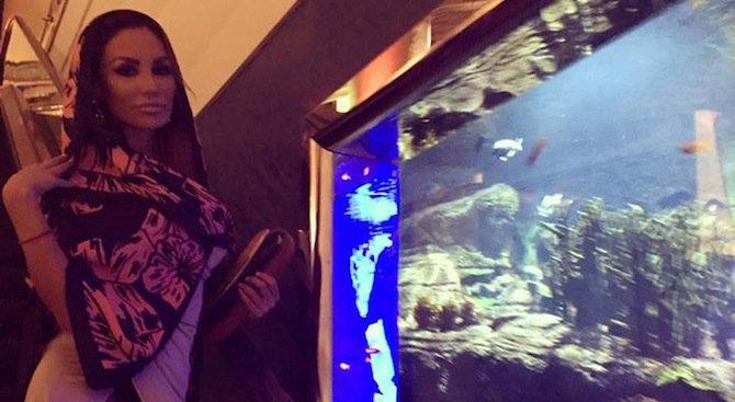 Моника Валериева в Дубай с бившия на Бони