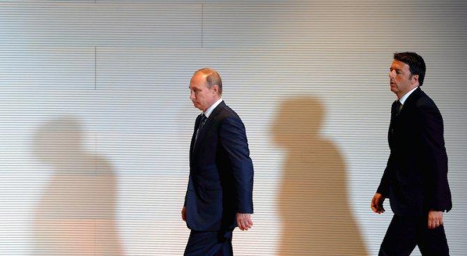 Путин и Ренци обсъдиха по телефона Сирия и иранско-саудитските отношения