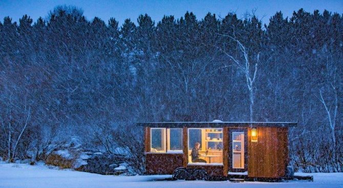 Разгледайте тази персонална къща, която е само 15 кв. метра