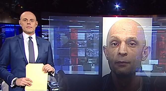 ТВ водещ съобщи за издирван престъпник, но се оказа негово копие (видео)