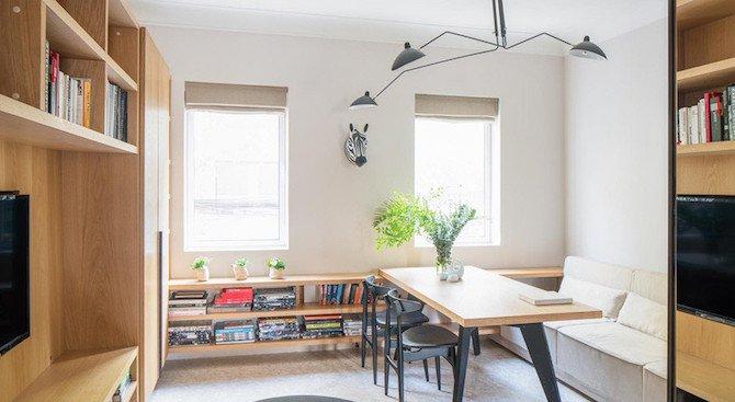 Вижте как дизайнери направиха малък апартамент да изглежда голям