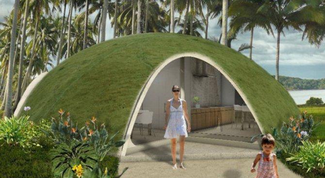 Куполни къщи от надуваем бетон за уникалните 3 500 долара