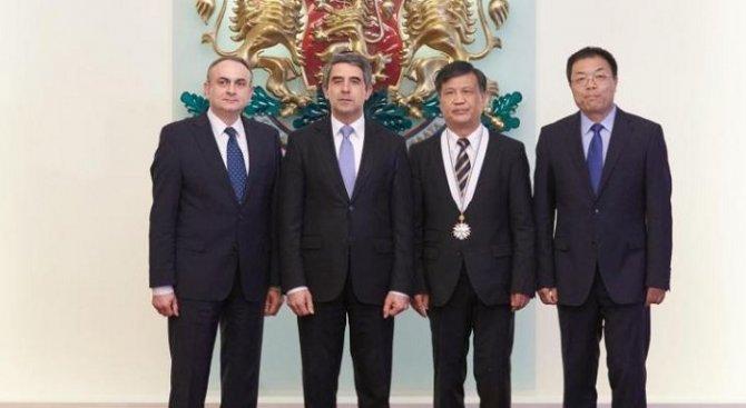 Плевнелиев: България подкрепя китайската мечта за свободна търговия и приятелство между двете страни