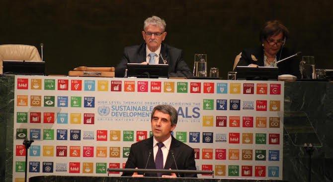 """Плевнелиев пред ООН: Целта ни е да развием """"зелена"""" и енергийно ефективна икономика (снимк"""