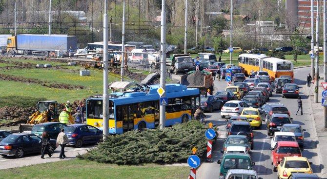 Въвежда се временна организация на движението в София