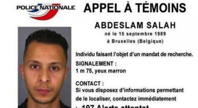 Белгия предаде на Франция извършителя на атентатите в Париж Салах Абдеслам