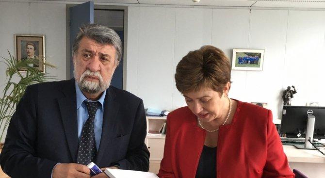 Вежди Рашидов се срещна с Кристалина Георгиева