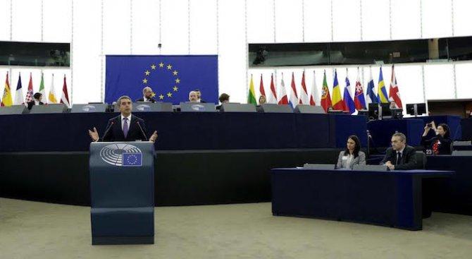 Плевнелиев пред ЕП: България показа, че е лоялен партньор в добри и в тежки времена (видео+снимки)