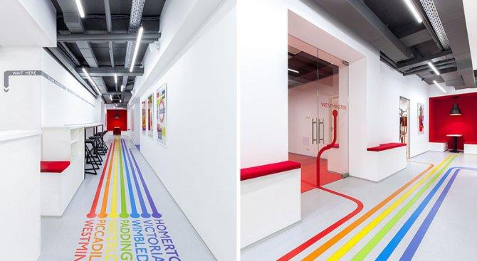 Цветни линии, вдъхновени от лондонското метро