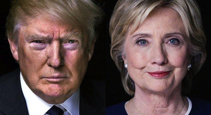 Хилари с 13 % преднина пред Тръмп