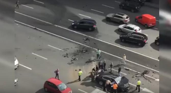 Жестока катастрофа с лимузината на Путин (снимка+видео)