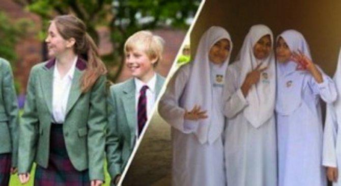 Как изглеждат ученическите униформи по света