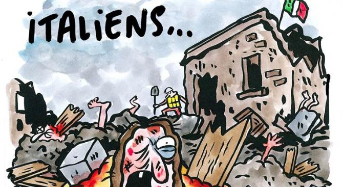 Италианският град Аматриче съди ''Шарли ебдо''