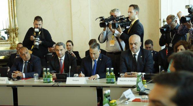 Премиерът Борисов пристигна във Виена за среща с европейските лидери (видео+снимки)