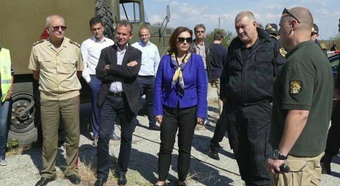 Румяна Бъчварова: Участниците в антитерористичното учение показаха висок професионализъм