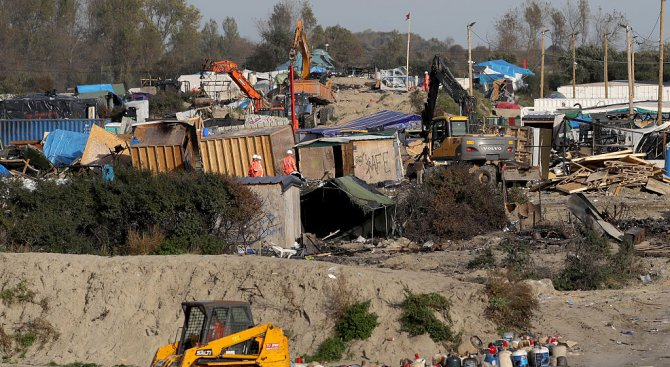 """Бежанският лагер """"Джунглата"""" вече е напълно разрушен"""