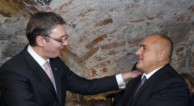 Борисов и Вучич обсъдиха строителството на междусистемната газова връзка България–Сърбия