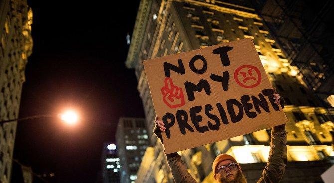 Студенти протестираха срещу изборната победа на Доналд Тръмп