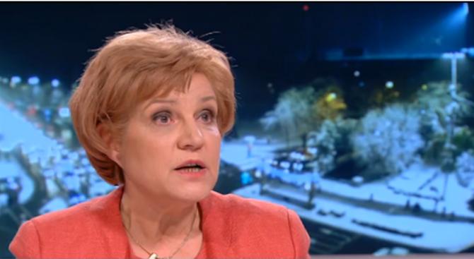 Менда Стоянова за минимална пенсия от 300 лева: Това е неправилно решение