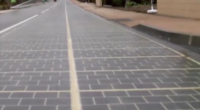 Във Франция откриха първия соларен път (видео)