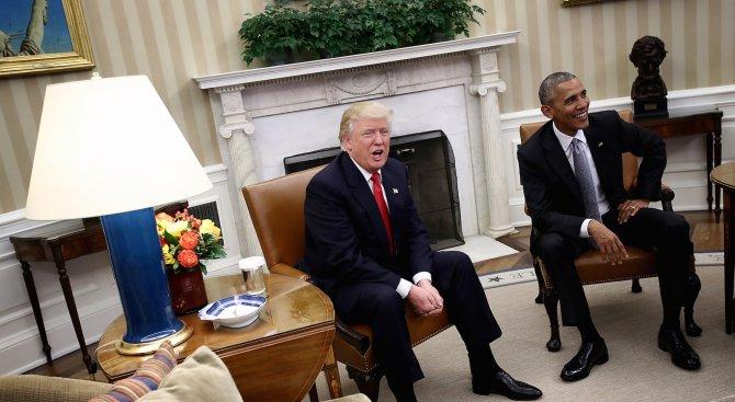 Обама и Тръмп разговаряха по телефона