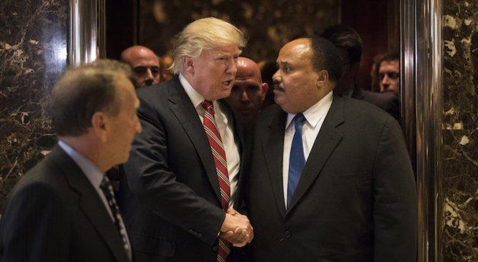 Тръмп прие син на Мартин Лутър Кинг (снимки)