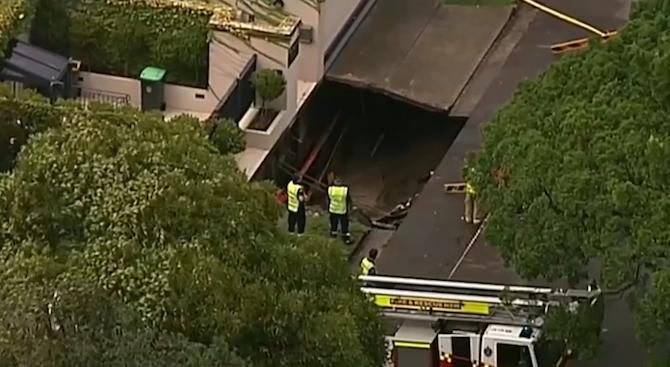 Огромна дупка се отвори до имението на австралийския премиер (видео)