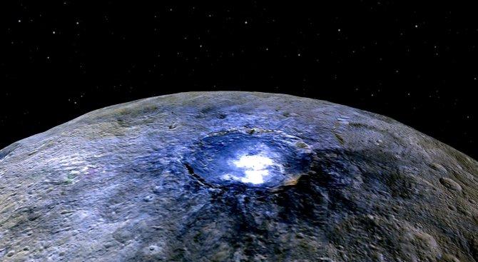 Откриха органичен материал на Церера (снимка)